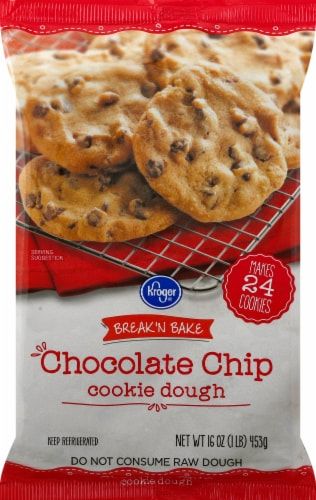 Kroger® Break 'N Bake Chocolate Chip Cookie Dough Perspective: front