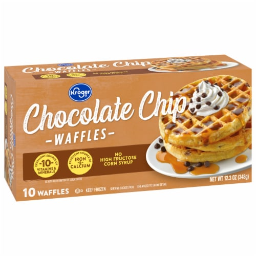 Kroger® Chocolate Chip Waffles Perspective: front