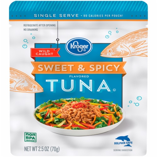 Kroger® Sweet & Spicy Flavored Tuna Perspective: front