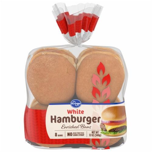 Kroger® White Hamburger Buns 8 Count Perspective: front