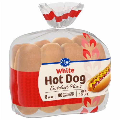 Kroger® White Hot Dog Buns Perspective: front