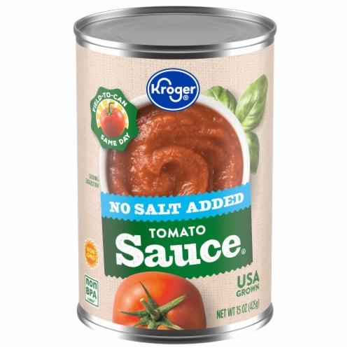 Kroger® No Salt Added Tomato Sauce Perspective: front