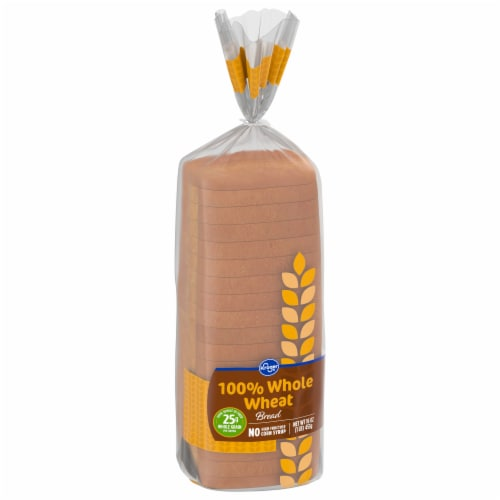 Kroger® Round Top 100% Whole Wheat Bread Perspective: front