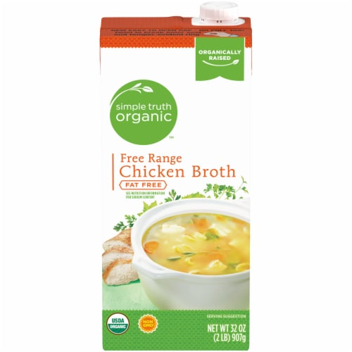 Simple Truth Organic™ Fat Free Free Range Chicken Broth Perspective: front