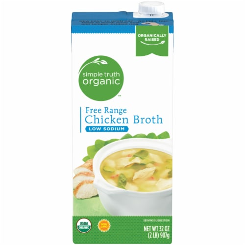 Simple Truth Organic™ Low Sodium Free Range Chicken Broth Perspective: front