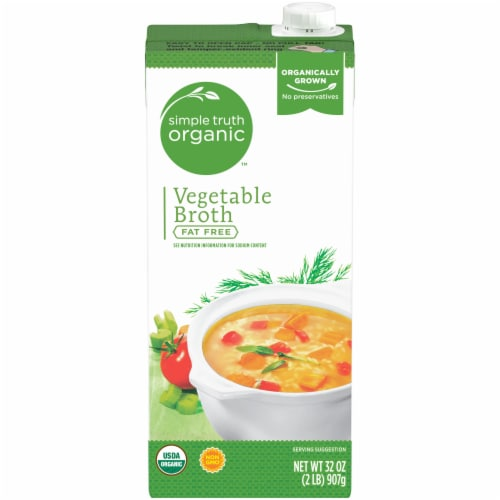 Simple Truth Organic™ Fat Free Vegetable Broth Perspective: front