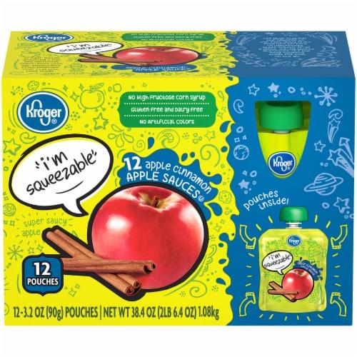 Kroger® Apple Cinnamon Applesauce Pouches Perspective: front