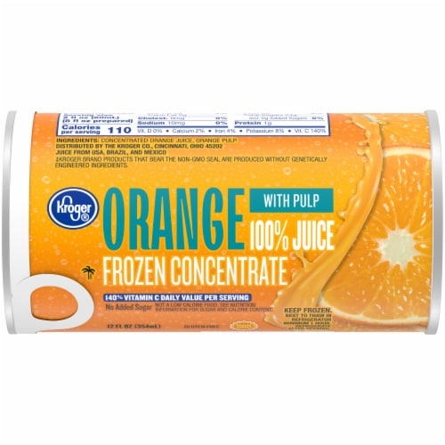Kroger® Frozen 100% Orange Juice with Pulp Concentrate Perspective: front