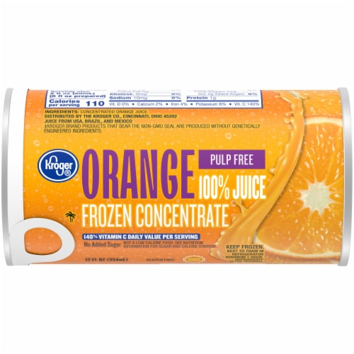 Kroger® Frozen 100% Pulp Free Orange Juice Concentrate Perspective: front