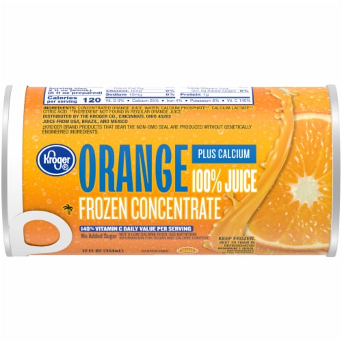 Kroger® Frozen 100% Orange Juice Plus Calcium Concentrate Perspective: front