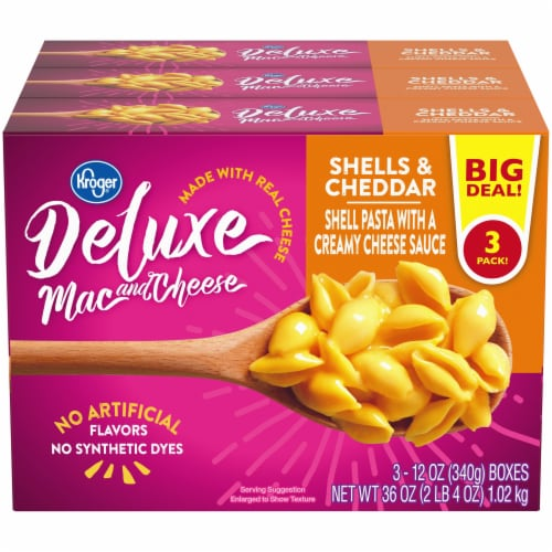 Kroger® Deluxe Shells & Cheddar Mac and Cheese Perspective: front