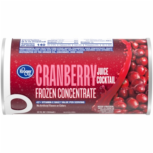 Kroger® Frozen Cranberry Juice Cocktail Perspective: front