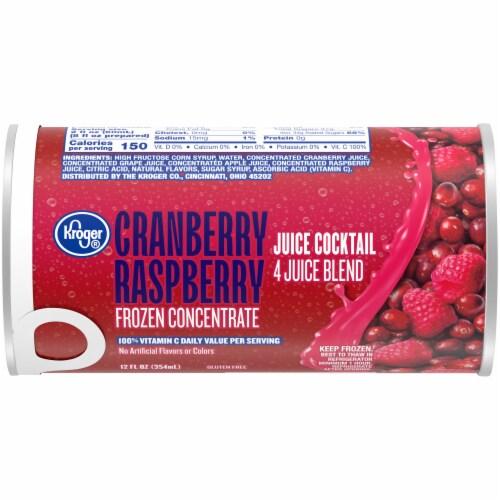 Kroger® Cranberry-Raspberry Juice Cocktail Perspective: front