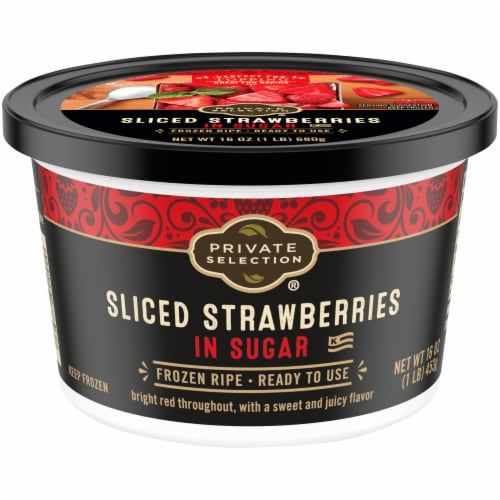 Private Selection® Sliced Strawberries in Sugar Frozen Fruit Perspective: front
