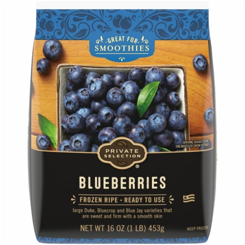 Private Selection Blueberries Frozen Fruit Perspective: front