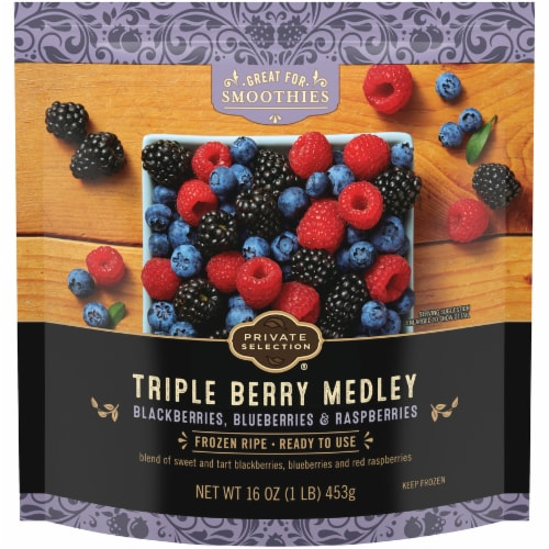 Private Selection® Frozen Triple Berry Medley Perspective: front