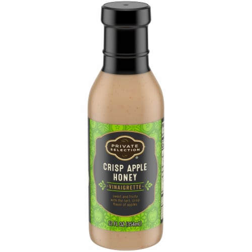 Private Selection® Crisp Apple Honey Vinaigrette Salad Dressing Perspective: front