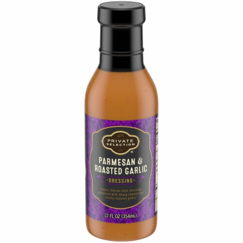 Private Selection® Parmesan & Roasted Garlic Salad Dressing Perspective: front