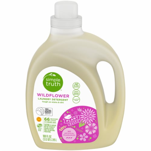 Simple Truth® Wildflower Plant-Based Liquid Laundry Detergent Perspective: front