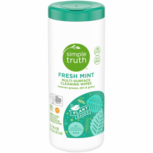 Simple Truth™ Fresh Mint Multi-Surface Cleaning Wipes Perspective: front