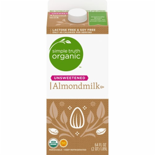 Simple Truth Organic™ Unsweetened Almondmilk Perspective: front