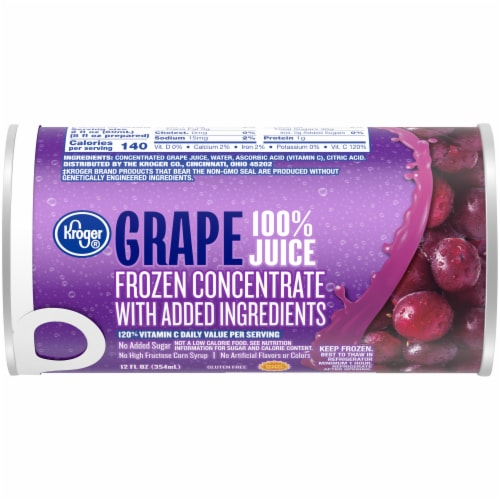 Kroger® Frozen 100% Grape Juice Concentrate Perspective: front