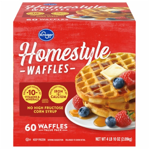 Kroger® Homestyle Waffles Perspective: front