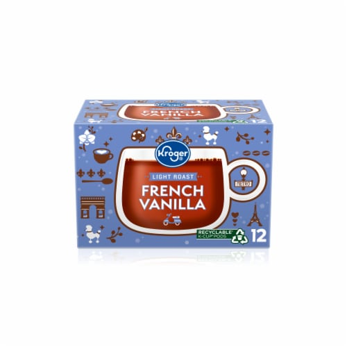 Kroger® Light Roast French Vanilla Coffee K-Cup Pods Perspective: front