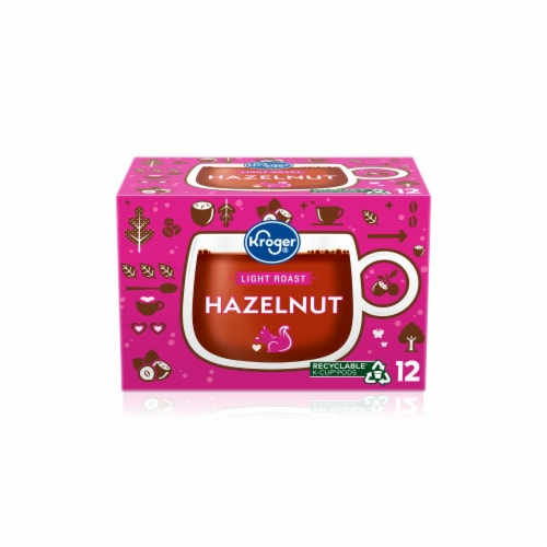 Kroger® Light Roast Hazelnut Coffee K-Cup® Pods Perspective: front