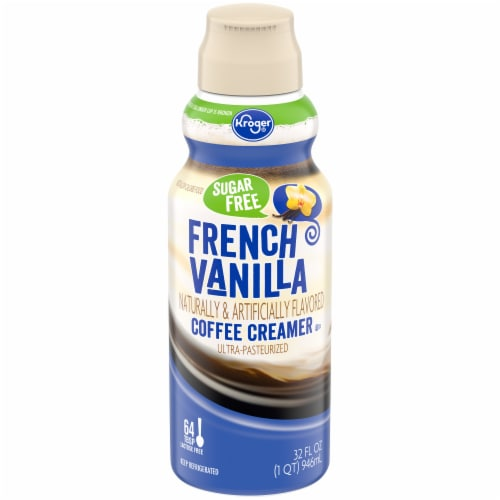 Kroger Sugar Free French Vanilla Coffee Creamer Perspective: front