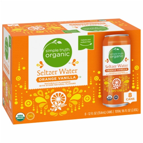 Simple Truth Organic™ Orange Vanilla Seltzer Water Perspective: front