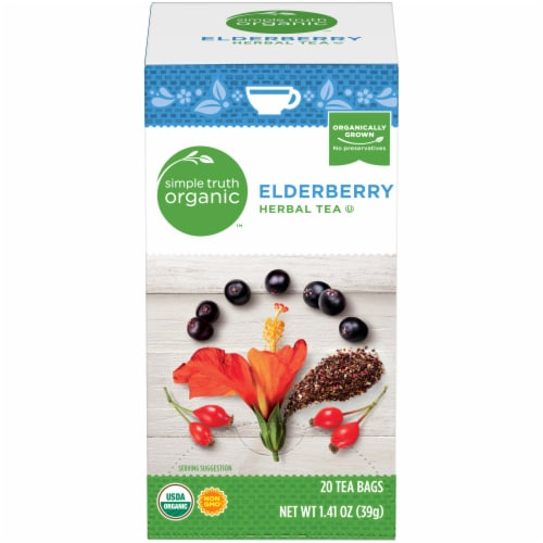 Simple Truth Organic™ Elderberry Herbal Tea Perspective: front