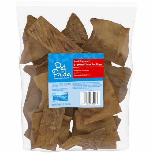 Pet Pride® Beef Flavored Beefhide Chips for Dogs Perspective: front