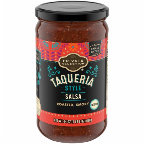 Private Selection™ Medium Roasted Taqueria Style Salsa Perspective: front