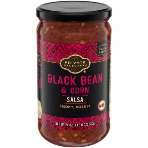 Private Selection® Mild Black Bean & Corn Salsa Perspective: front