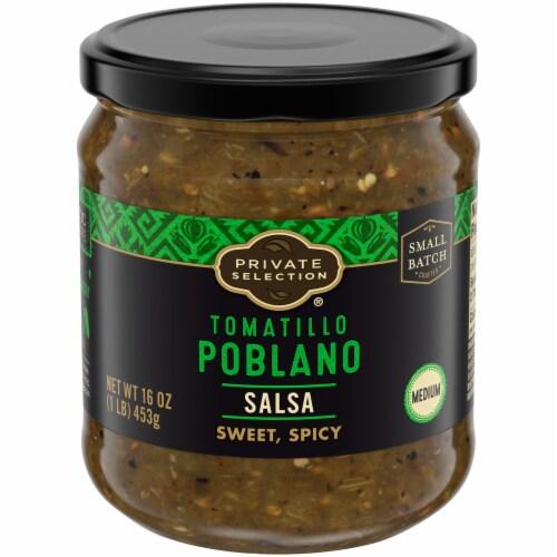Private Selection® Medium Tomatillo Poblano Salsa Perspective: front