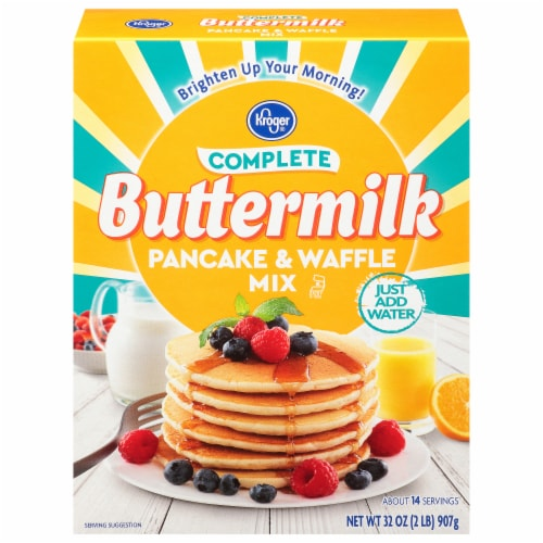 Kroger® Complete Buttermilk Pancake & Waffle Mix Perspective: front