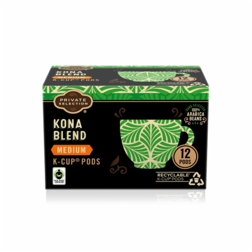 Private Selection® Kona Medium-Roast Coffee K-Cup Pods Perspective: front