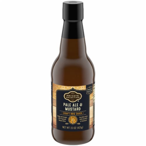 Private Selection® Pale Ale & Mustard Craft BBQ Sauce Perspective: front