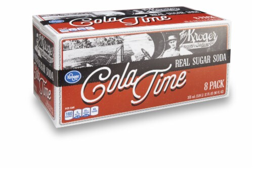 Kroger® Cola Time Real Sugar Soda Perspective: front