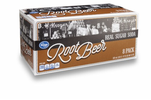 Kroger® Real Sugar Root Beer Soda Perspective: front