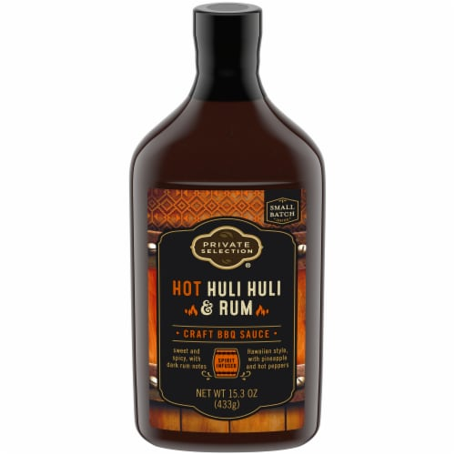 Private Selection® Hot Huli Huli & Rum Craft BBQ Sauce Perspective: front
