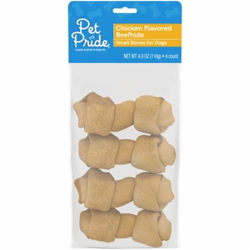 Pet Pride® Chicken Flavor Basted Bag of Bones for Dogs Perspective: front