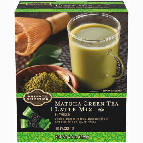 Private Selection™ Matcha Green Tea Latte Mix Packets Perspective: front
