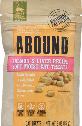ABOUND™ Salmon & Liver Soft Moist Cat Treats Perspective: front