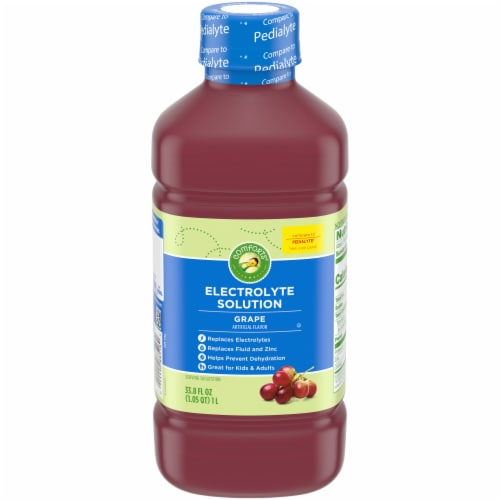 Comforts™ Grape Flavored Electrolyte Solution Perspective: front