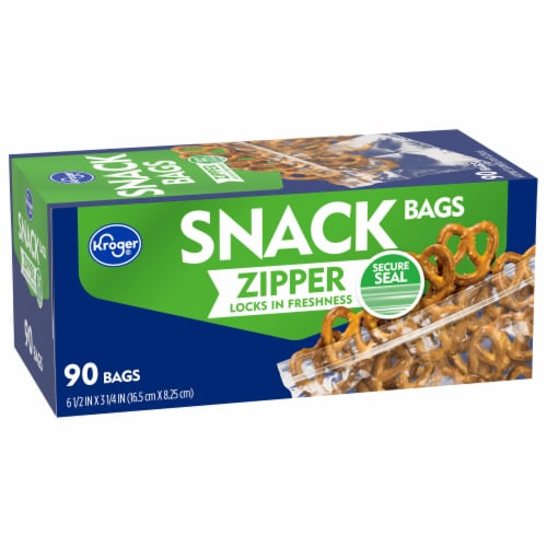 Kroger® Zipper Snack Bags Perspective: front
