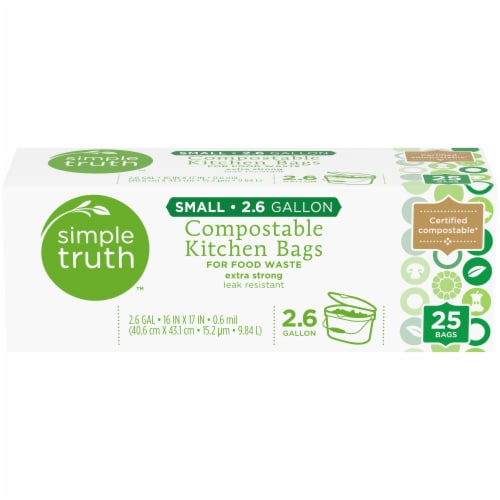 Simple Truth™ Small 2.6 Gallon Compostable Kitchen Trash Bags Perspective: front