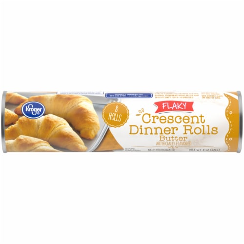 Kroger® Flaky Butter Flavor Crescent Rolls 8 Count Perspective: front