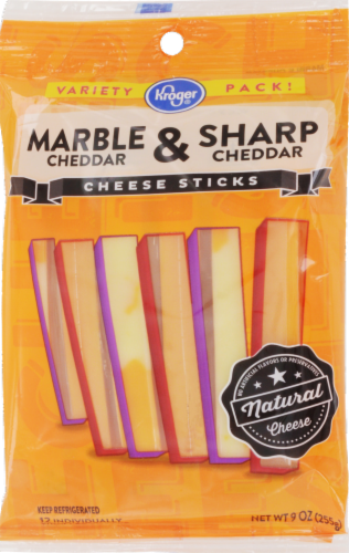 Kroger Marble & Sharp Cheddar Cheese Sticks Perspective: front